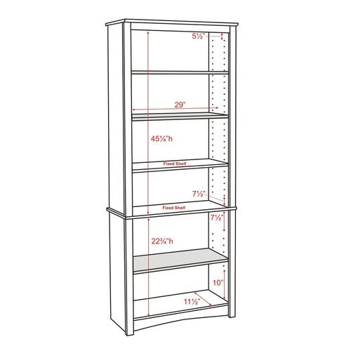 espresso 6 estante librería