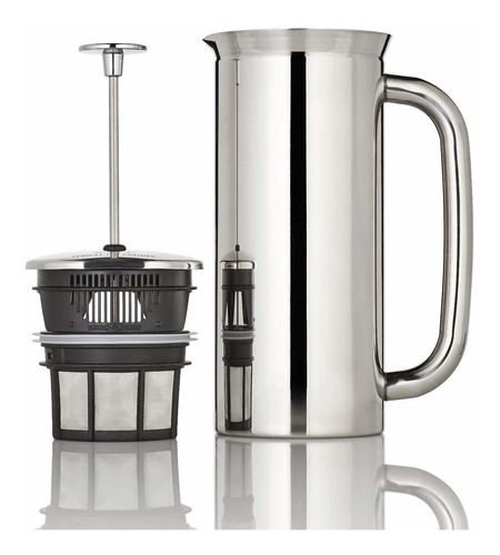 espro coffee press p7-18 oz, aislado al vacío, acero in