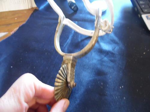 espuela corralera rodaja 6 cm  para adorno una sola alpaca