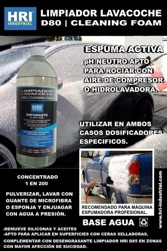espuma activa hri ph neutro 1 l c/manopla y paño microfibra