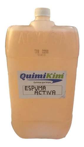 espuma activa quimikim para ropa con grasa 20 lt concentrado