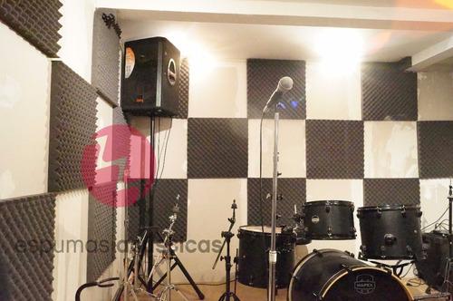 espuma acústica alta densidad 60 x 60cm