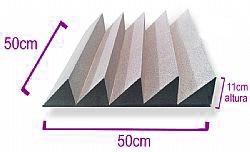 espuma acústica difusor e absorvedor acustico m2 anti chamas