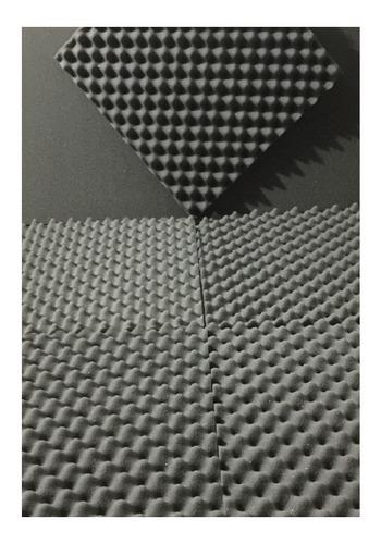 espuma acustica kit 50 placas 50 x 50 x 2 cm + cola spray