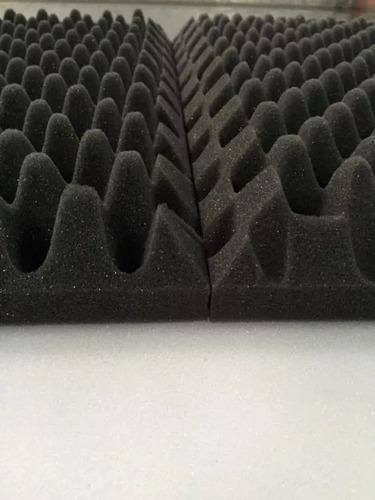 espuma acústica kit c/ 12 placas 50cmx50cmx3,5cm