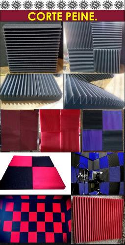 espuma acústica  kit  de  45pz  40x40x5.5 en 24k de densidad