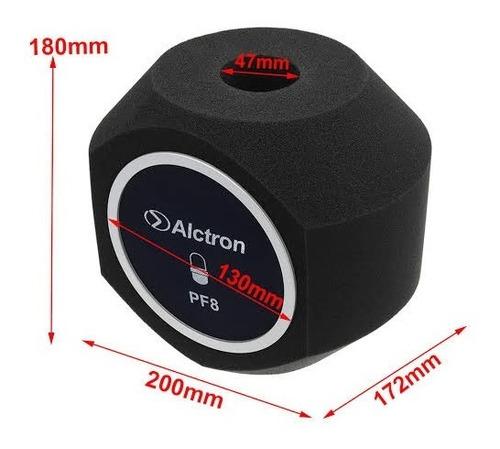 espuma acústica para microfone alctron pf8
