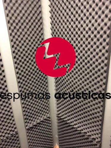 espuma aislante acústica alta densidad profesional gris
