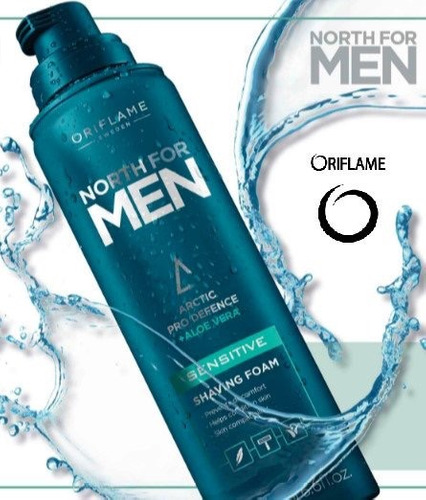 espuma de afeitar piel sensible north for men de oriflame