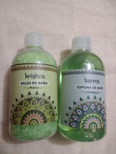 espuma de baño 250 ml. y sal de baño 250 gms.