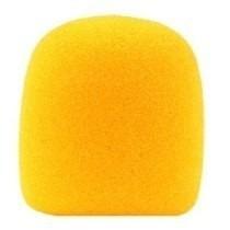 espuma de microfone de mão sm58 - 05- amarela /05 vermelha