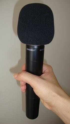 espuma de microfone mão- melhora a qualidade do som