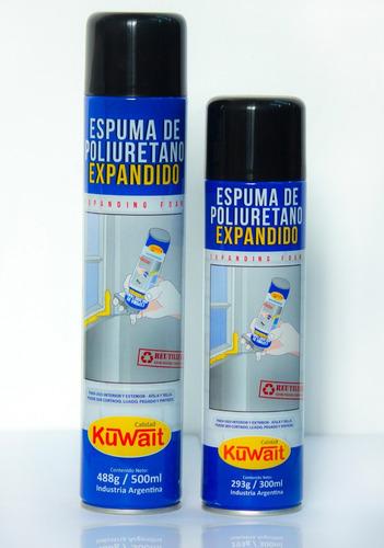 espuma de poliuretano expandido 750 ml.