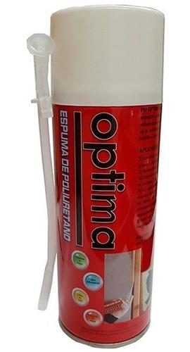 espuma de poliuretano expandido aerosol x2 -750 cm optima