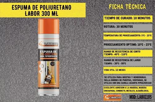 espuma de poliuretano expandido labor 300 ml profesional