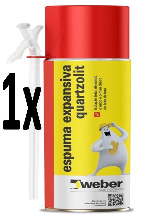 8ae998a4065 Espuma Expansiva 500ml Quartzolit (preço Melhor No Kit) - R  23