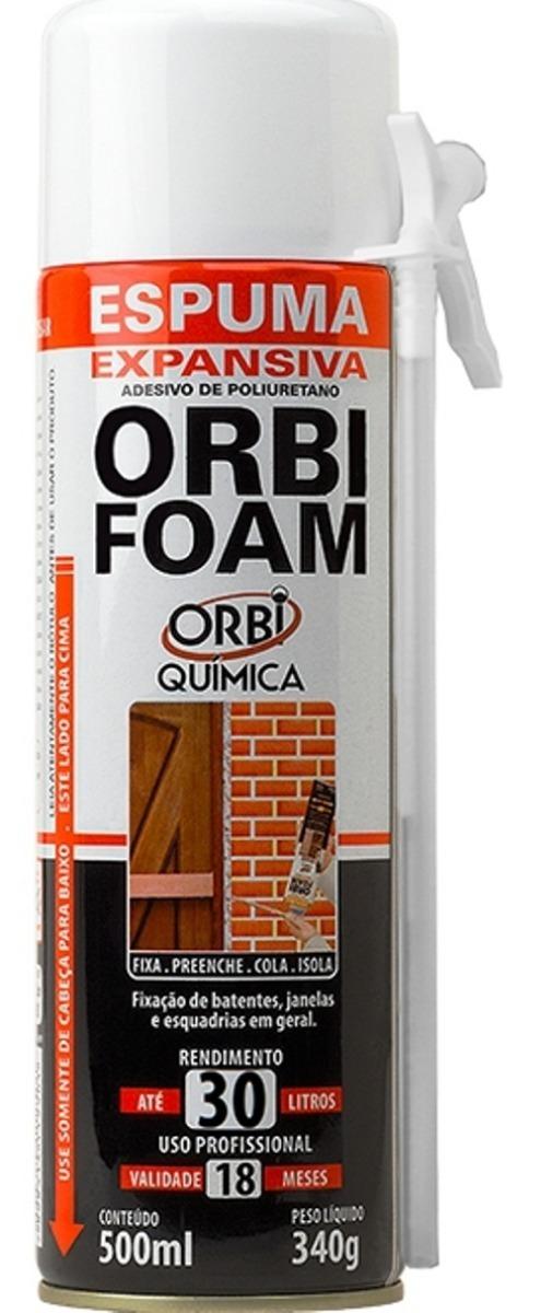 1fc05f9099f espuma expansiva poliuretano 500ml orbifoam caixa c  6 peças. Carregando  zoom.