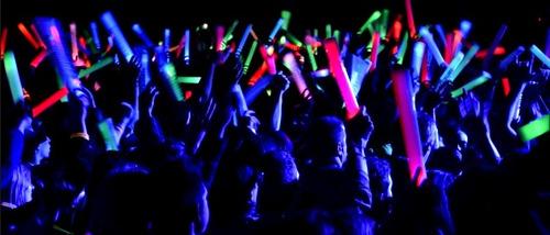 espuma led stick - barras bastón de luz led - colores x5pack