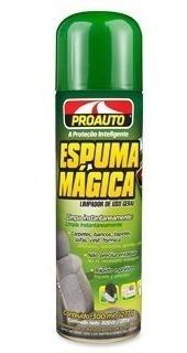 espuma mágica proauto limpadores a seco e hidratantes