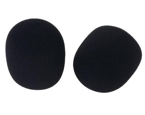 espuma microfone com fio ou sem pacote com 5 peças preta