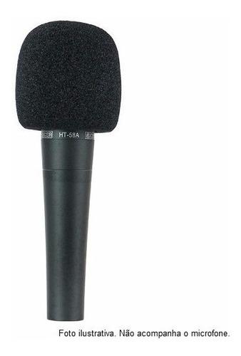 espuma microfone de mão sm58 kit c/ 04 un - melhora o som!