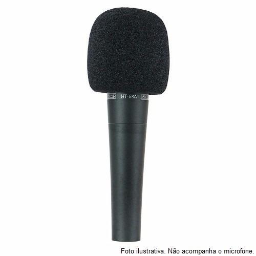 espuma microfone de mão sm58 kit c/ 08 un - melhora o som!
