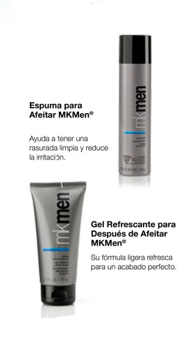 espuma para afeitar y gel refrescante after mkmen mary kay