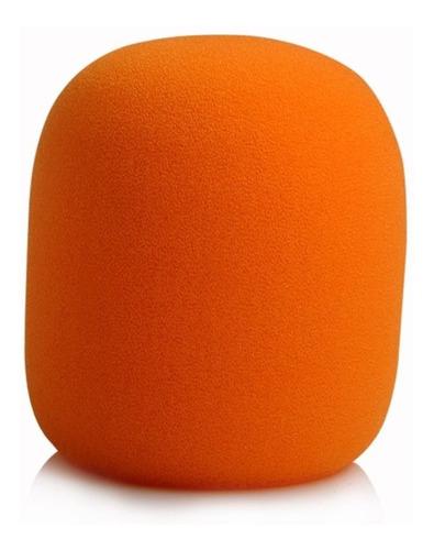 espuma para microfone de mão laranja