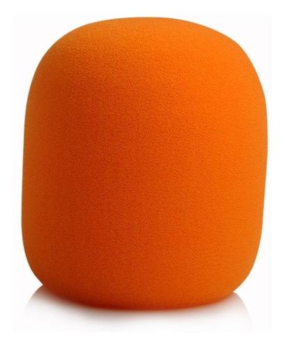 espuma para microfone de mão sm58 laranja