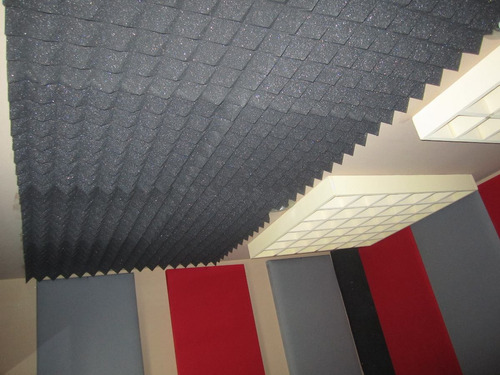 espuma piramidal densidad 17 placa de 2x1.20m