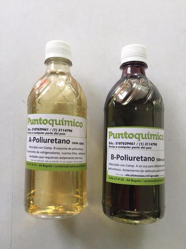 espuma poliuretano - poliol e isocianato kit de lb x $30.000