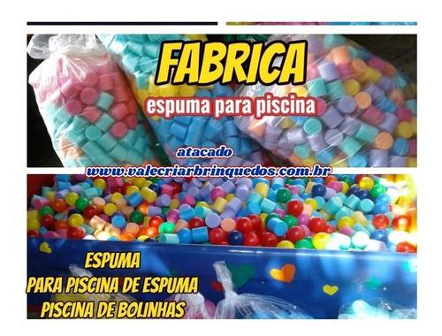 espuma p/tombo legal e piscina de bolinhas kit c/500 peças