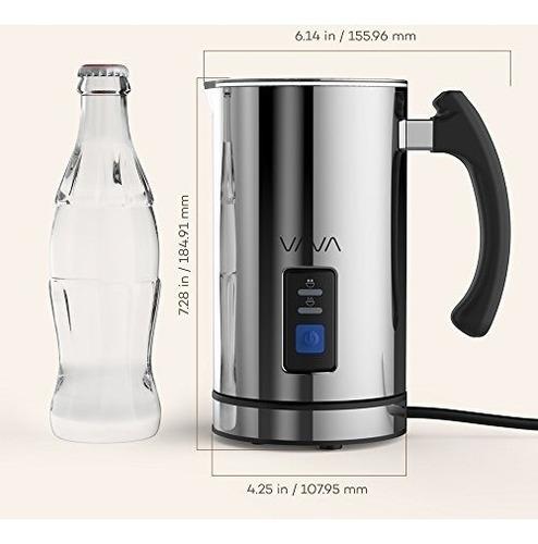 espumador de leche eléctrico en acero inoxidable marca vava