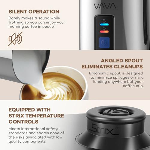 espumador de leche vava calentador de líquido eléctrico