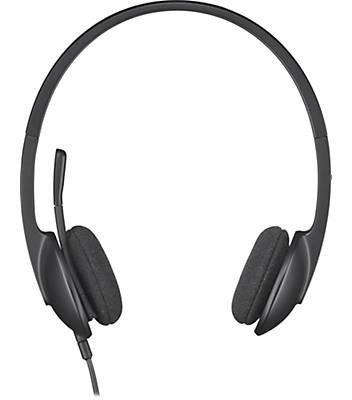 espumas logitech h340 h 340 almofadas ear pads couro