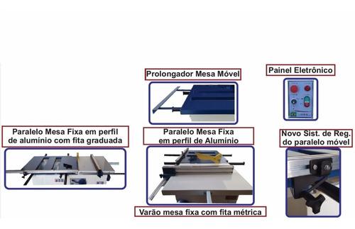 esquadrejadeira 2900mm inclinável 3cv mono delta verry