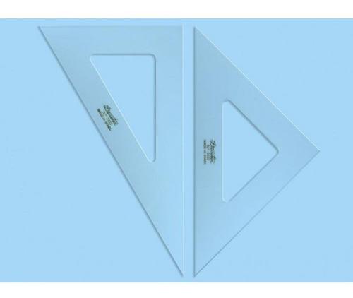 esquadro de acrílico par sem escala tridente 32 cm