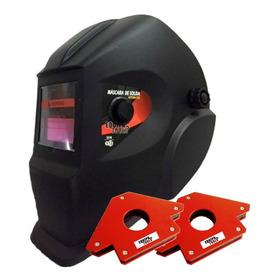 Esquadro Magnético 22kg Mascara De Solda Automática Din 9-13