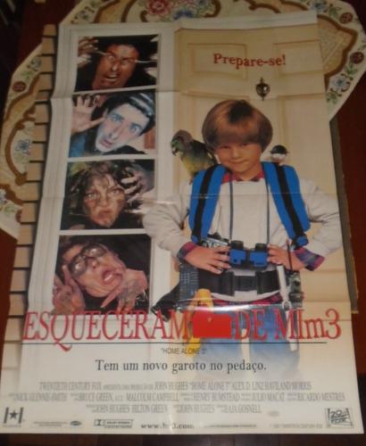 esqueceram de mim 3 poster gigante original 1997 raro