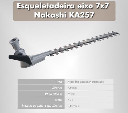 esqueletadeira aparador articulado eixo 7x7 nakashi ka257
