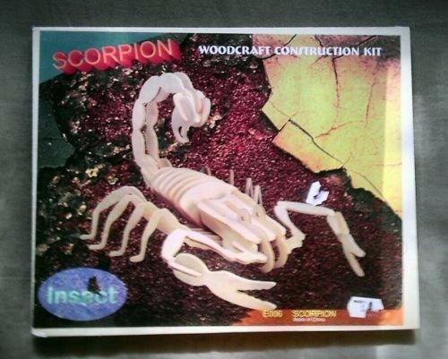 esqueleto armable 3d madera insectos escorpion