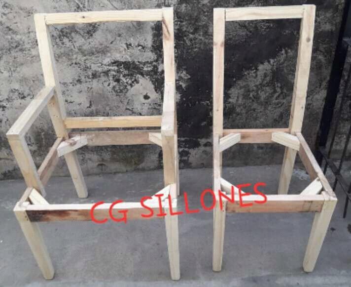 Esqueleto Estructura De Silla De Comedor Para Tapizar - $ 550,00 en ...