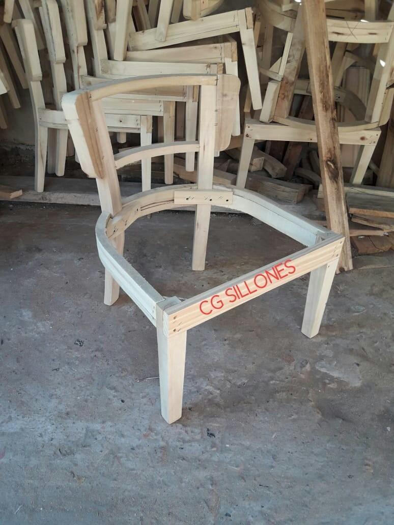 Esqueleto estructura puff en madera para tapizar silln sillas - Tapizar sillas de madera ...