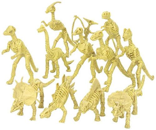 esqueletos fósiles dinosaurio 6 a 7 inch surtidos 12 pzas