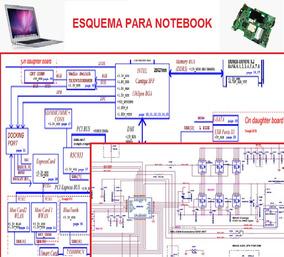 Esquema Diagrama Elétrico Eletrônico Placa Mãe Notebook