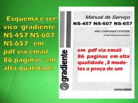 Esquema E Serviço Gradiente Ns-457 Ns-607 Ns-657 Em Pdf