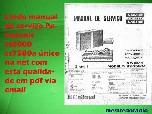 esquema  panasonic ss8000 ss7580a ss 8000 ss7580 ss 7580