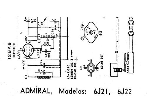 esquema radio admiral mod 6j21,6j22 via email