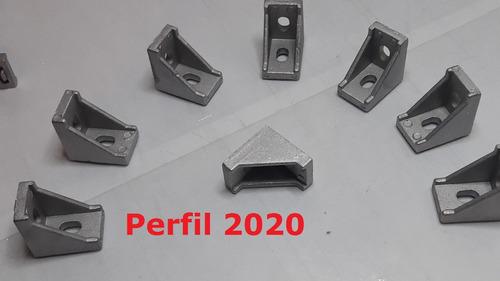 esquina para perfil aluminio 2020 angulo union 20x20 1 pieza