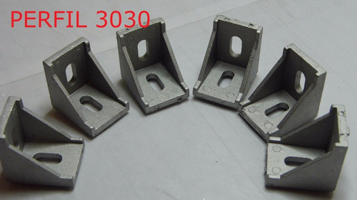 esquina para perfil de aluminio 3030, angulo union 3030 12pc